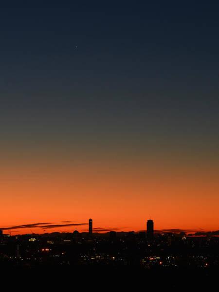 Dawn Sky Over Boston Poster