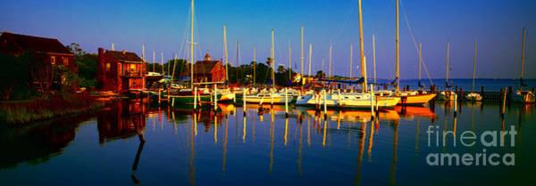 Daytona Beach Florida Inland Waterway Private Boat Yard With Bird   Poster