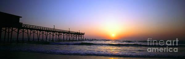Daytona Sun Glow Pier  Poster