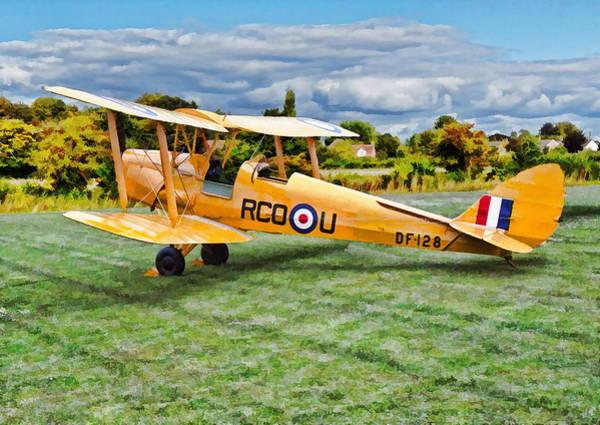 Poster featuring the digital art De Havilland Dh82 Tiger Moth by Paul Gulliver