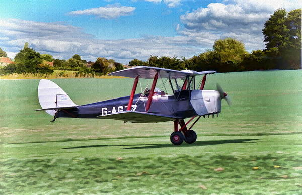 Poster featuring the digital art De Havilland Tiger Moth 2 by Paul Gulliver