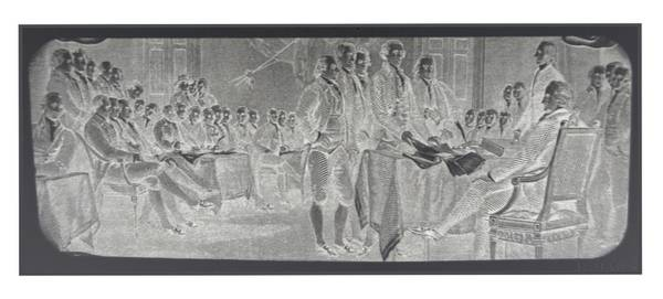 Declaration Of Independence In Negative Poster