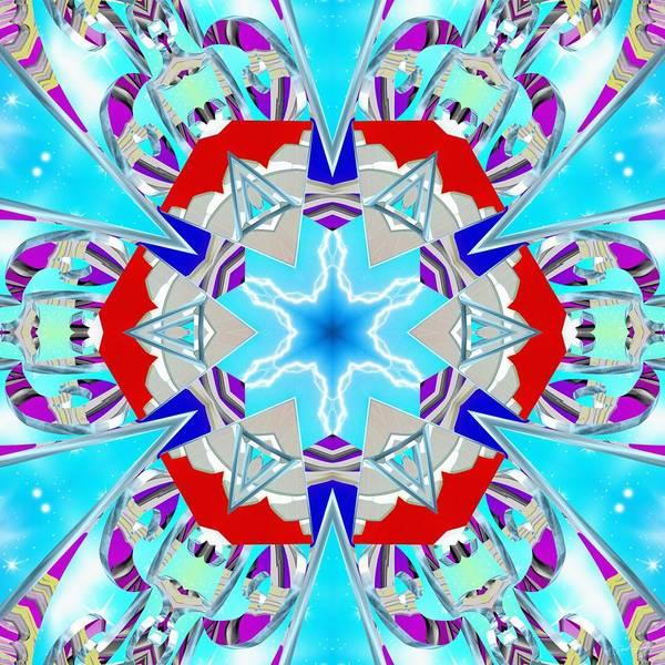 Deep Blue Geometry Poster