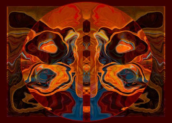 Deities Abstract Digital Artwork Poster
