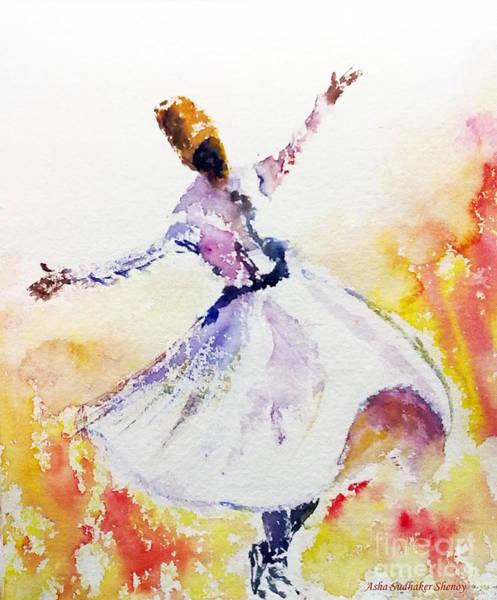 Whirling Sufi Dervish Poster