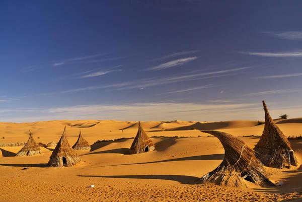 Desert Village Poster