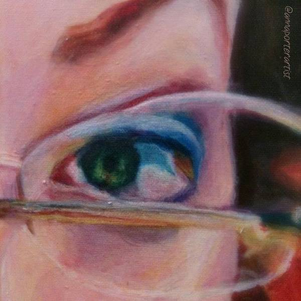 Detail From Portrait Of Chrissy An Acrylic Painting By Anna Porter Artist Poster