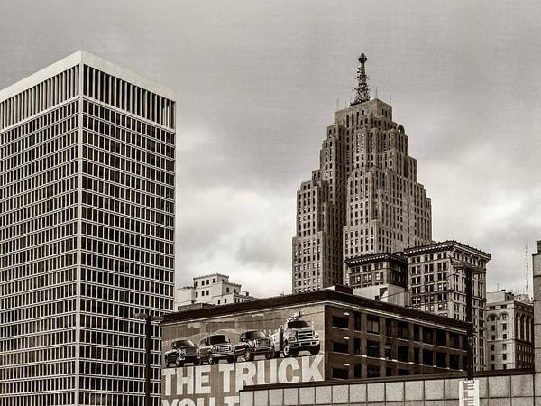Detroit Cityscape - Penobscot Building Poster