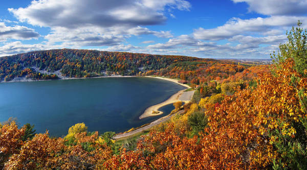 Devil's Lake In Autumn Poster