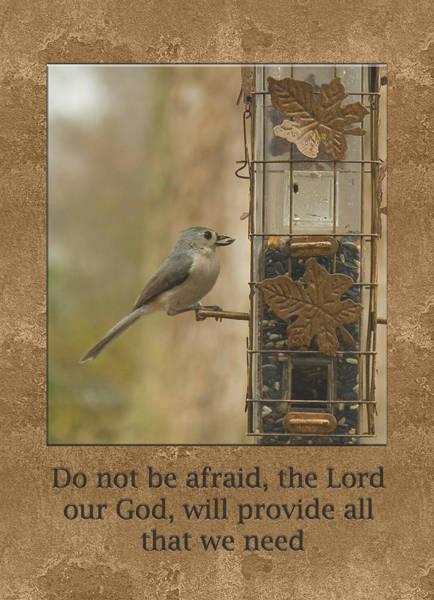 Do Not Be Afraid God Will Provide Poster