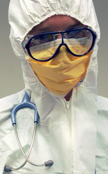 Doctor In Biohazard Suit Poster