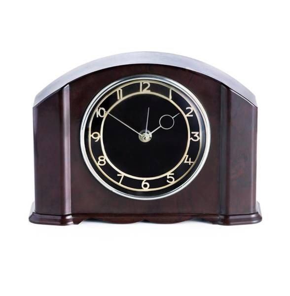 Domestic Clock With A Bakelite Housing Poster