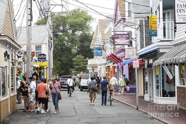 Downtown Scene In Provincetown On Cape Cod In Massachusetts Poster