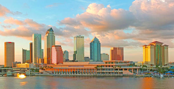 Downtown Tampa Skyline Poster