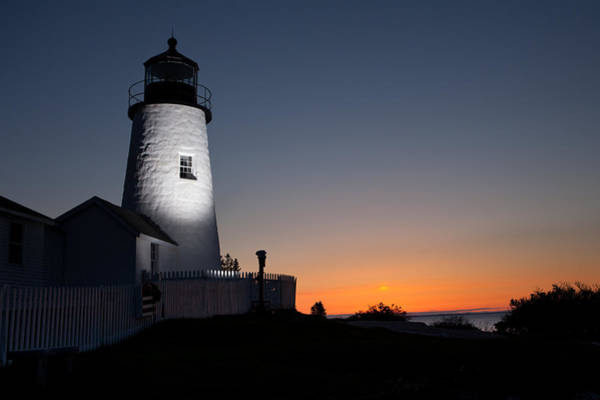 Dramatic Lighthouse Sunrise Poster