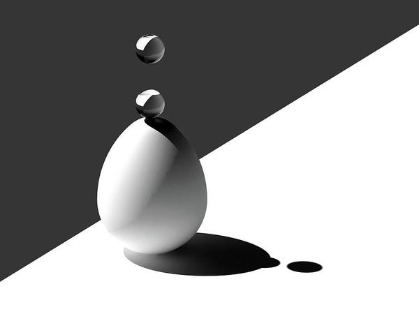 Drops On Egg Poster