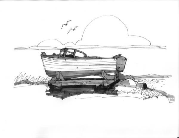Dry Dock In Ocracoke Nc 1970s Poster