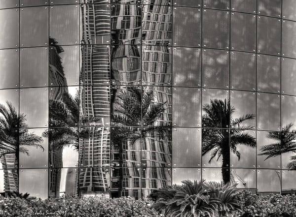 Dubai Street Reflections Poster