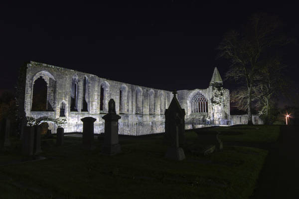 Poster featuring the photograph Dunfermline Abbey By Night   The Palace   6 Of 6 by Ross G Strachan