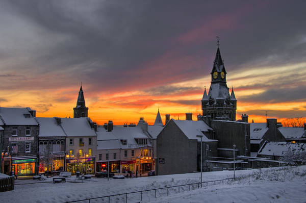Poster featuring the photograph Dunfermline Winter Sunset by Ross G Strachan