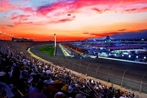 Dusk At The Racetrack Poster