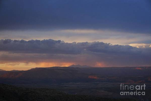Early Monsoon Sunset Over San Francisco Peaks Poster