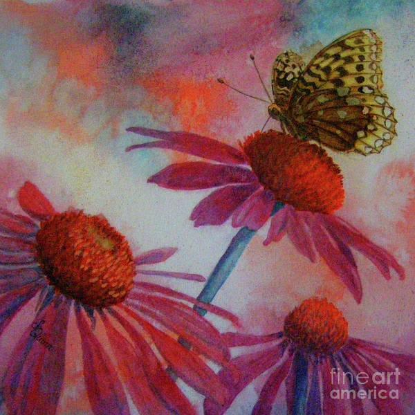 Echinacea Fritillaria Poster