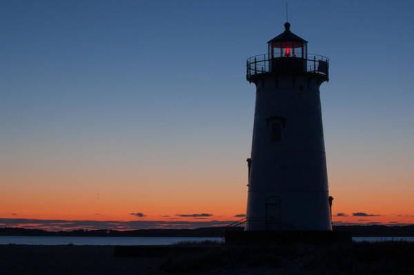 Edgartown Light At Sunrise Poster