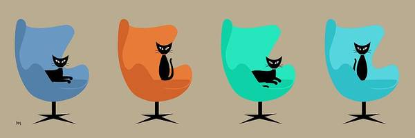 Egg Chairs Poster