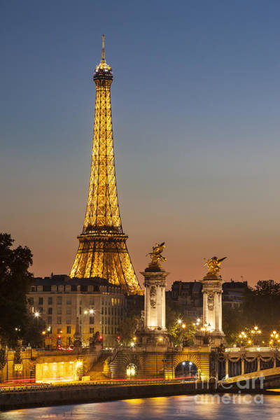 Poster featuring the photograph Eiffel At Twilight by Brian Jannsen