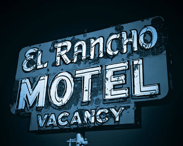 Poster featuring the photograph El Rancho Motel by Gigi Ebert