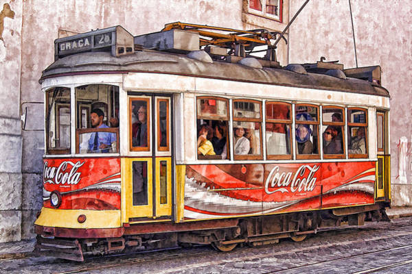 Electric Trolly Of Lisbon Poster