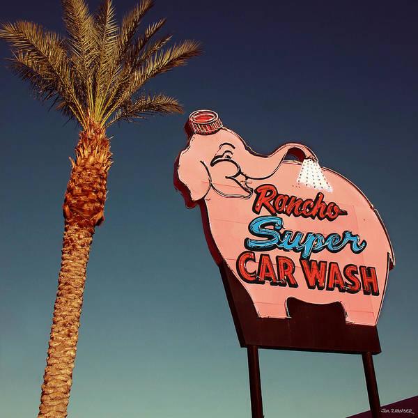 Elephant Car Wash Rancho Mirage California Poster