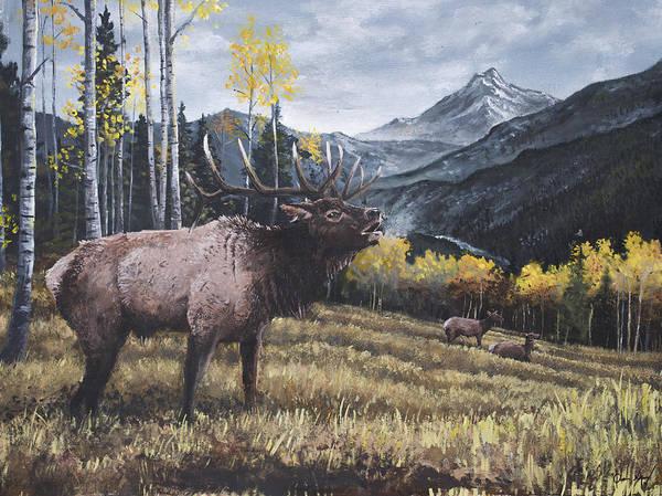 Elk Bugle Poster
