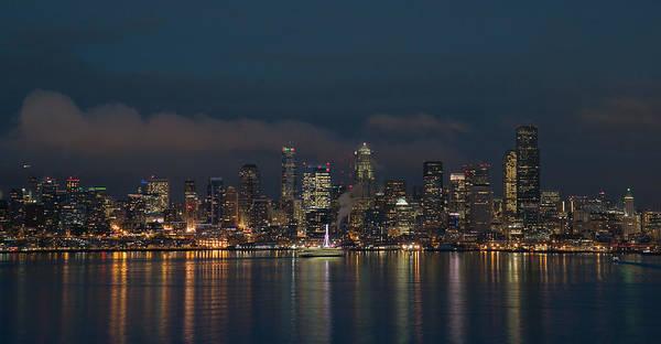 Emerald City At Night Poster