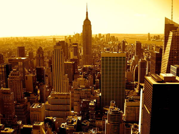 Manhattan And Empire State Building Poster