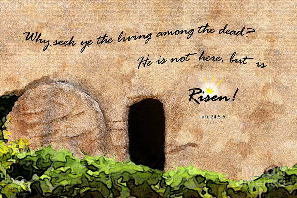 Empty Tomb - Luke 24 Poster