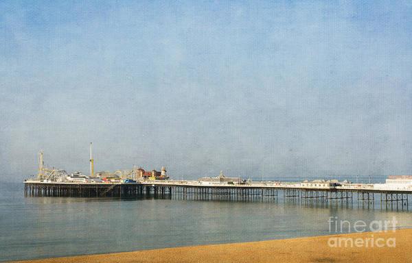 English Victorian Seaside Pier - Textured Poster