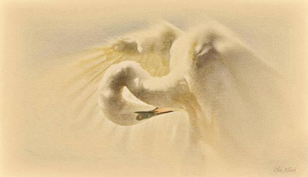 Ethereal Egret Poster