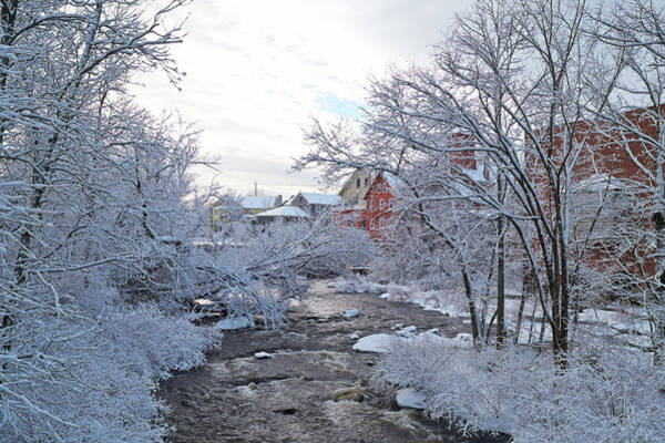 Exeter River With Snow And Ice Poster