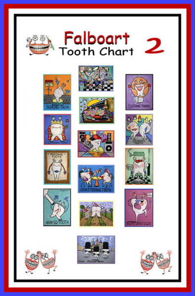 Falboart Tooth Chart Number 2 Poster