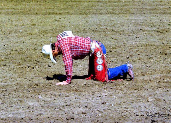Fallen Bull Rider Poster