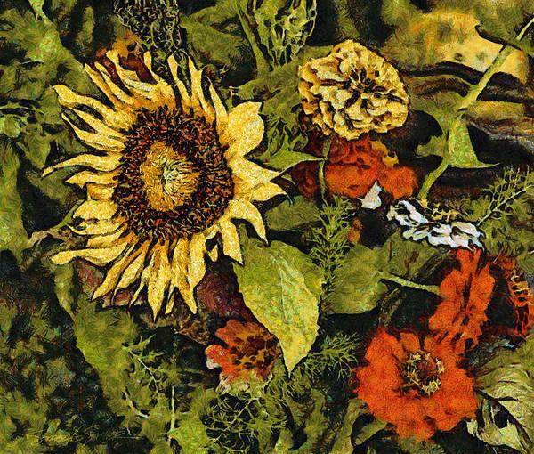 Farmers Market Sunflower Poster