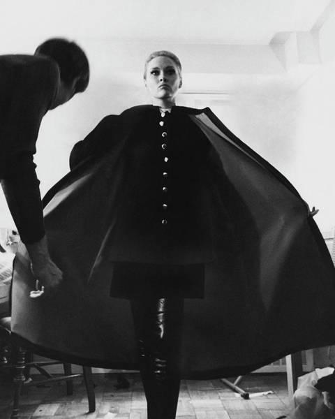 Faye Dunaway Wearing A Melton Coat Poster
