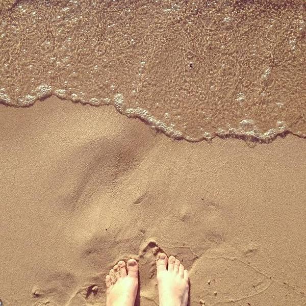 Feet On The Beach Poster