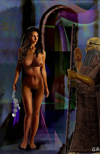 Female Nude Digital Fine Art Jean Inanna 7th Gate Poster