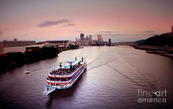 Ferry Boat At The Point In Pittsburgh Pa Poster