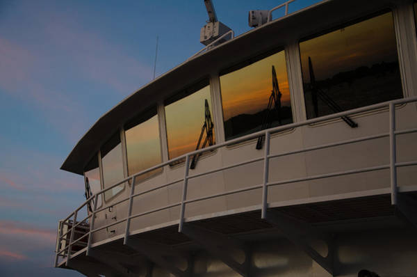 Ferry Sunset Poster