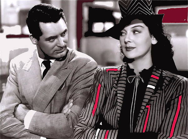 Film Homage Cary Grant Rosalind Russell Howard Hawks His Girl Friday 1940-2008 Poster