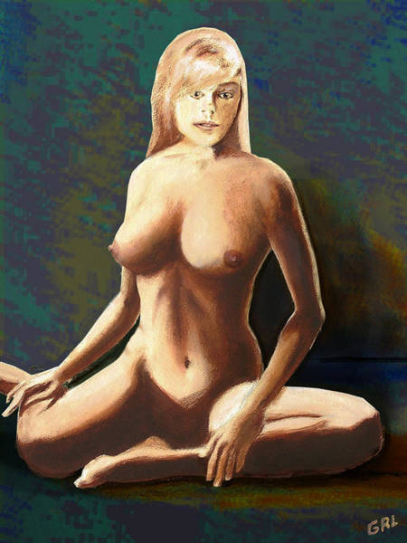 Poster featuring the painting Fine Art Female Nude Jess Seated Mods2b by G Linsenmayer